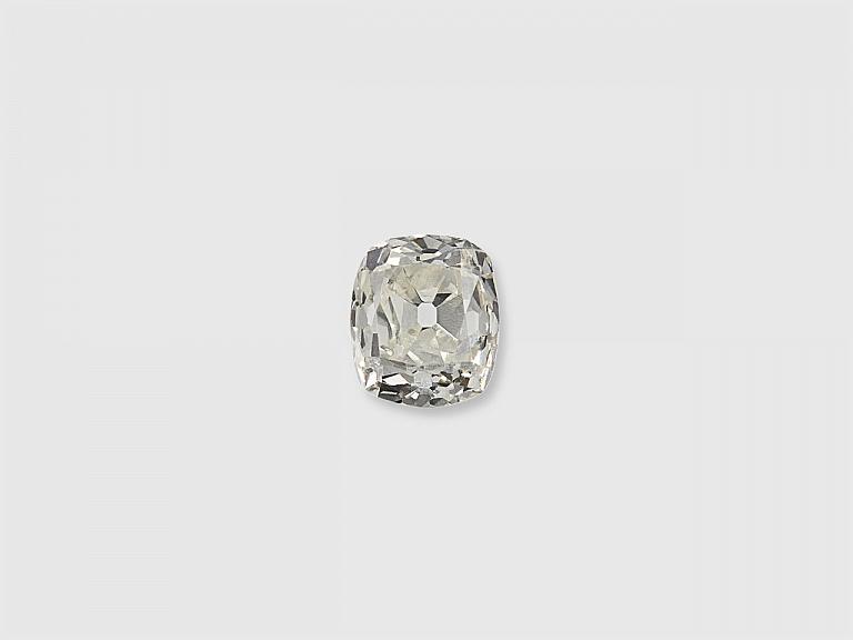 Video of 0.37 Carat J/VS-2 Old Mine Cushion-Cut Diamond