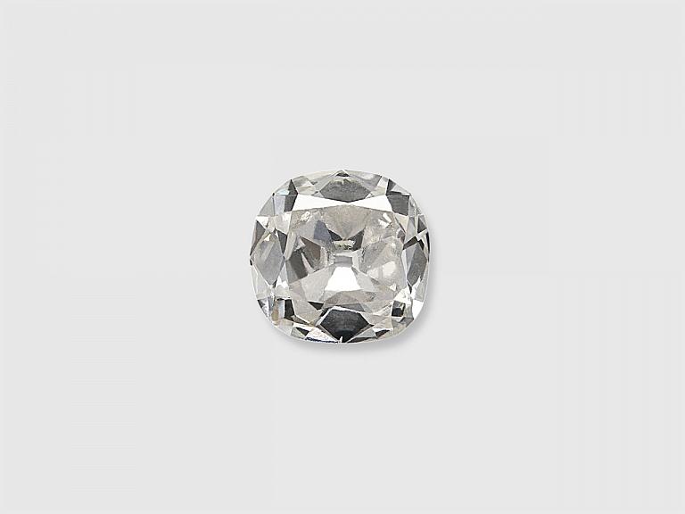 Video of 0.59 Carat H/SI-1 Old Cushion-Cut Diamond