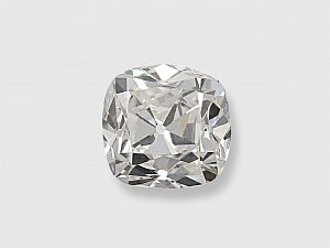 0.89 Carat F/VS-1 Old Mine Cushion-Cut Diamond