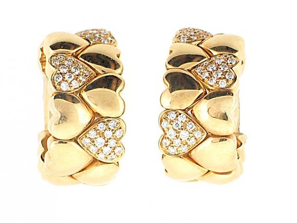 Cartier Diamond Heart Earrings in 18K