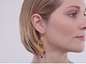 Garrard 'Lotus' Diamond and Tourmaline Earrings in 18K
