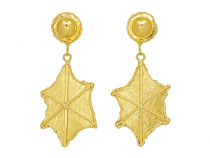 Jean Mahie Earrings in 22K Gold