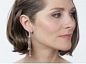 Beladora 'Bespoke' Brown and White Diamond Double Dangle Earrings in 18K Rose Gold