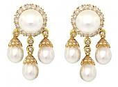 South Sea Pearl and Diamond Earrings in 18K