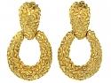 Modernist 'Door Knocker' Earrings in 18K