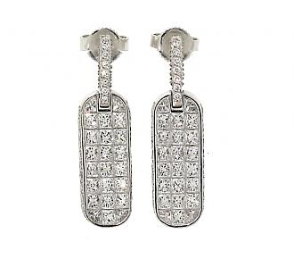 Bez Ambar Diamond Earrings in 18K White Gold