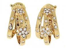 Chanel Diamond Star Earrings in 18K