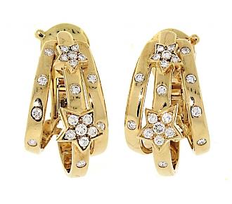 Chanel Diamond Star Earrings in 18K