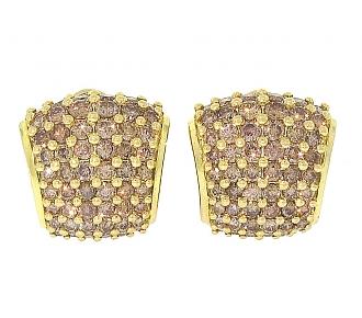 Paul Morelli Cognac Diamond Earrings in 18K