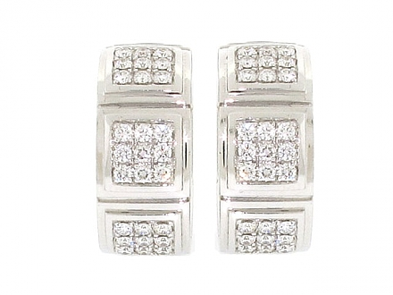 Mauboussin Diamond and Mother-of-Pearl 'Naora' Earrings in 18K