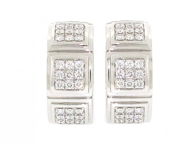 Mauboussin Diamond and Mother-of-Pearl 'Naora' Earrings in 18K