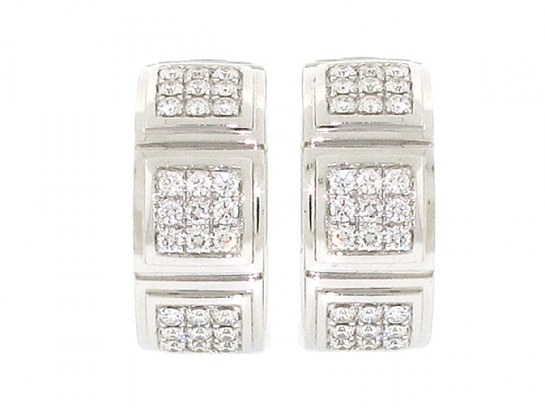 Video of Mauboussin Diamond and Mother-of-Pearl 'Naora' Earrings in 18K