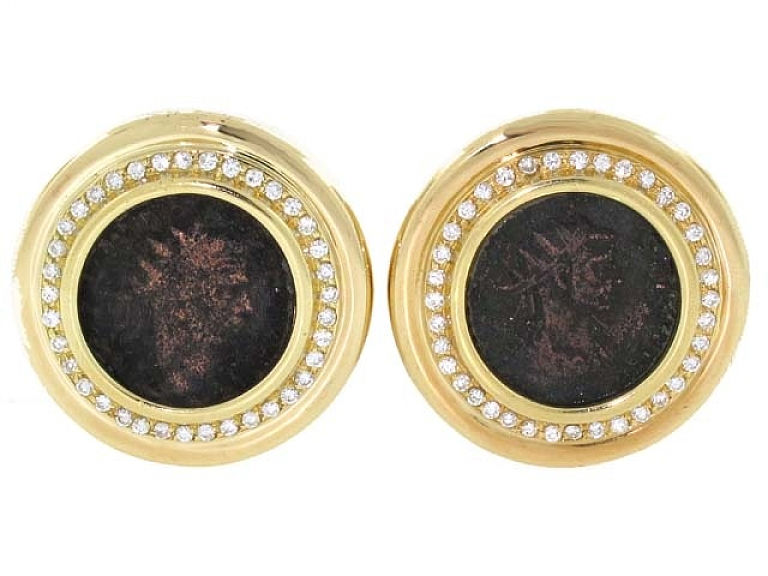 Video of Tallarico Ancient Coin Earrings in 18K