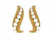 David Webb Pearl Earrings in 18K