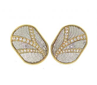 Michael Bondanza Diamond Earrings in 18K and Platinum