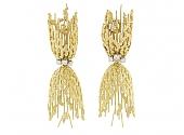 Modernist Diamond Earrings in 18K