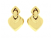 Bulgari 'Doppio Cuore' Heart Earrings in 18K