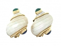 Seaman Schepps Shell Earrings in 14K