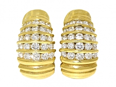 Cartier Diamond Earrings in 18K