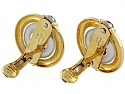 Cartier Aldo Cipullo Sapphire Circles Earrings in 18K