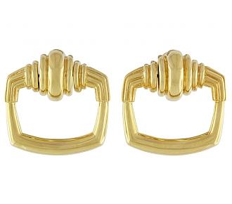 Cartier Aldo Cipullo Door Knocker Earrings in 18K