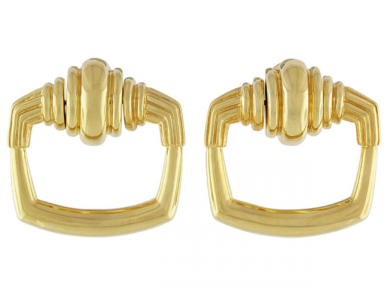 Video of Cartier Aldo Cipullo Door Knocker Earrings in 18K
