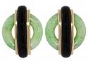 Cartier Aldo Cipullo Jade and Onyx Earrings in 18K