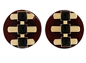 Cartier Aldo Cipullo Carnelian and Onyx Earrings in 18K