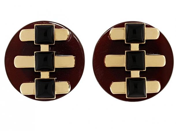 Cartier Aldo Cipullo Carnelian and Onyx Earrings in 18K