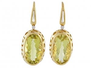 Roberto Coin Citrine 'Mauresque' Earrings in 18K Gold