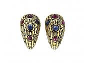 Alex Šepkus Ruby and Sapphire Earrings in 18K