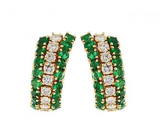 Van Cleef & Arpels Emerald and Diamond Earrings