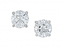 Tiffany & Co. Diamond Stud Earrings in Platinum, 3.60 total carats