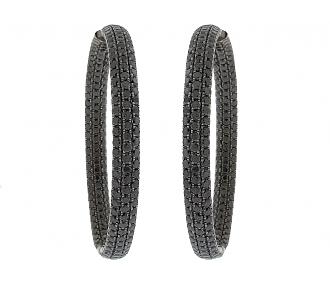 Sue Gragg Black Diamond Earrings in 18K