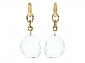 DvF by H.Stern Rock Crystal and Diamond Earrings in 18K Gold