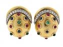 David Webb Multi-Gemstone Earrings in 18K
