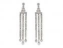 Tiffany & Co. 'Jazz' Triple-bar Diamond Drop Earrings in Platinum