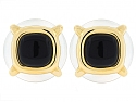 Cartier Aldo Cipullo Crystal and Onyx Earrings in 18K