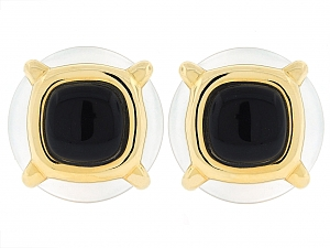 Cartier Aldo Cipullo Crystal and Onyx Earrings in 18K