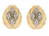David Webb Diamond Earrings in 18K and Platinum