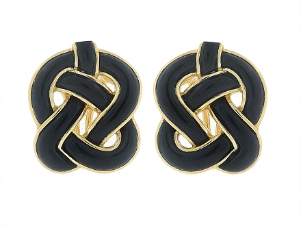 Tiffany & Co. Onyx Earrings in 18K