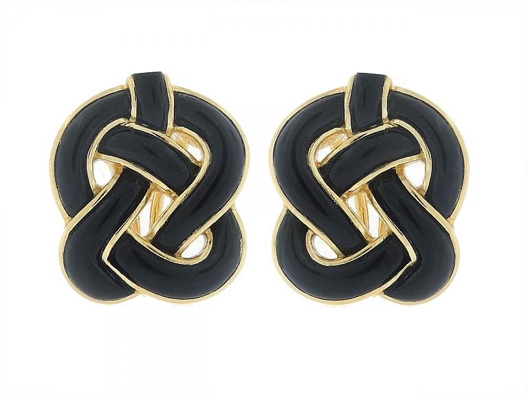 Video of Tiffany & Co. Onyx Earrings in 18K
