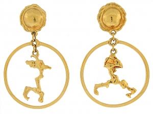 Jean Mahie 'Charming Monsters' Earrings in 22K