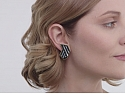 Tiffany & Co. Black Jade and Mother-of-Pearl Earrings in 18K