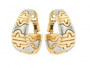 Bulgari 'Parentesi' Earrings in 18K and Stainless Steel