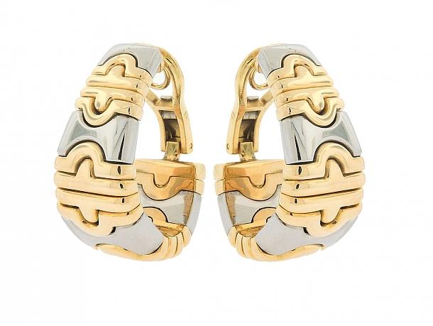 Bulgari 'Parentesi' Earrings in 18K and Stainless Steel