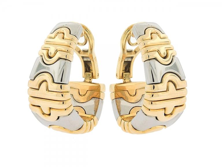 Video of Bulgari 'Parentesi' Earrings in 18K and Stainless Steel