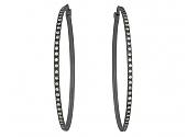 Diamond Hoop Earrings in 18K