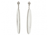 Sue Gragg Crystal and Diamond Earrings in 18K