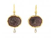 Mimi So Sapphire Oval Earrings in 18K